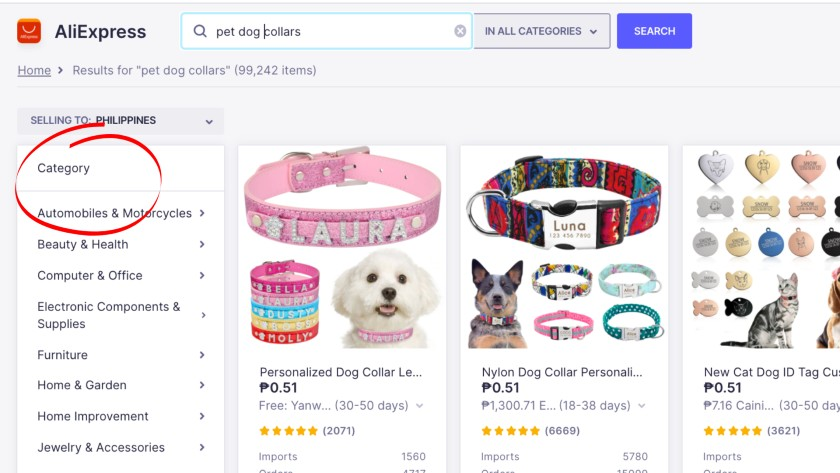 AliExpress Product Categories and Subcategories