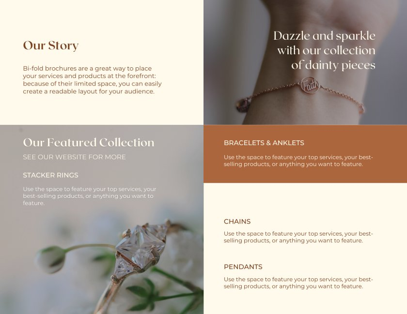 Anvira And Elle Fine Jewelry Bi-fold Brochure