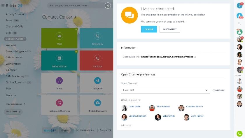 Bitrix24 LiveChat Feature