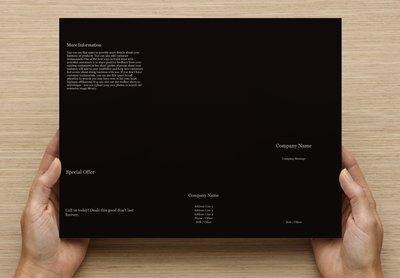 Black Template Tri-fold Brochure