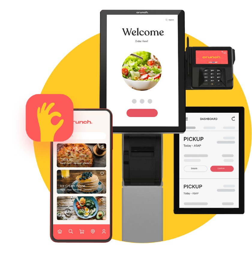 Crunch Kios Mobile Ordering App And Crunch Manager Dashboard