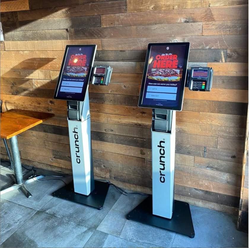 Crunch compact kiosks Save Space