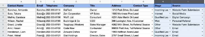 Data Validation Lists