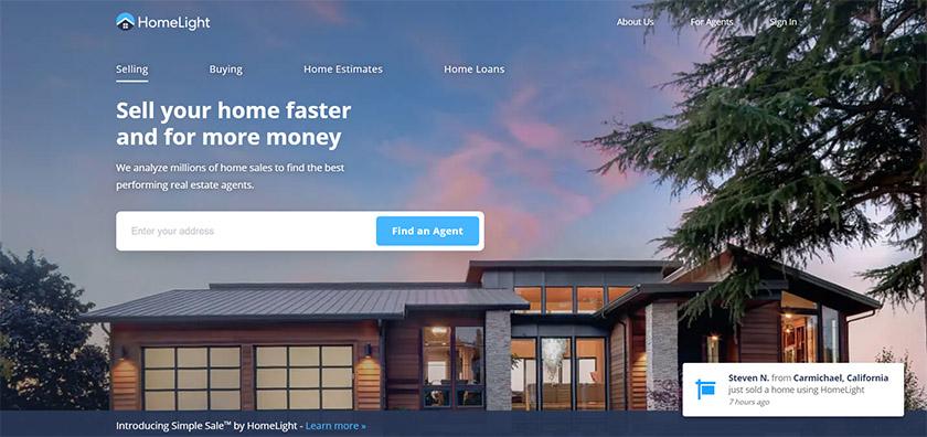 Homelight homepage