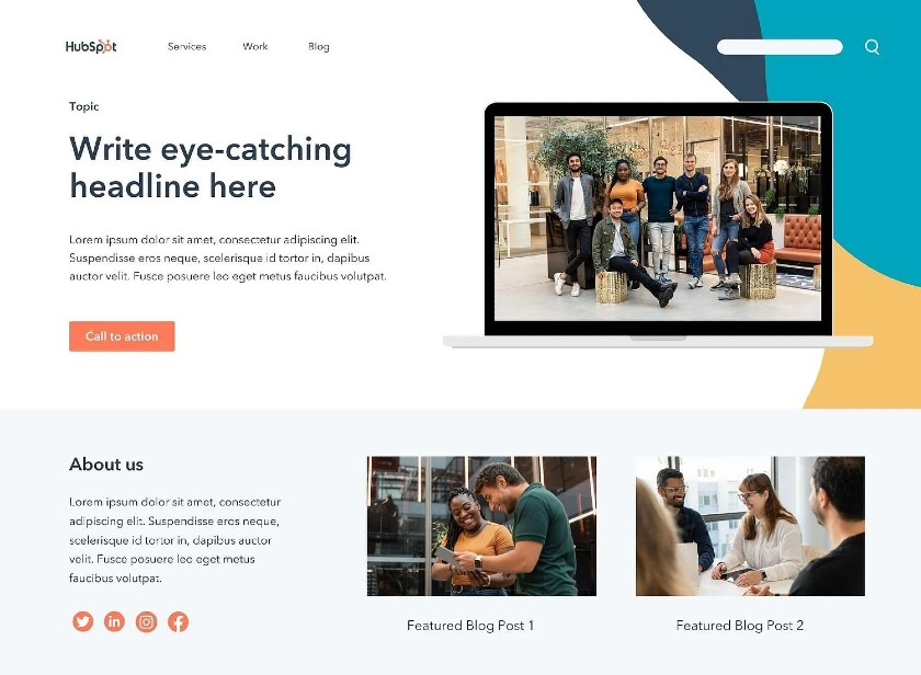 HubSpot Landing Page Template