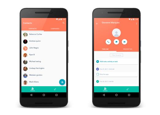 HubSpot Mobile App Interface