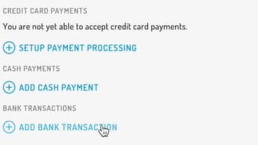 Screenshot of Hurdlr Adding Invoice Payments