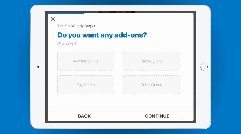 KioskBuddy Add-ons Option for Customers