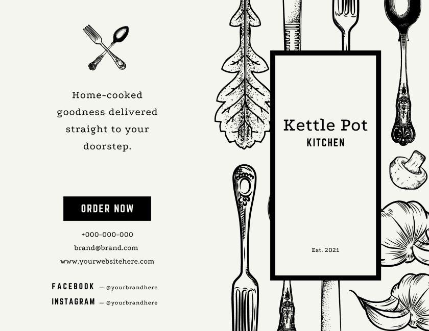 Kitchen Pot Bi-fold Brochure