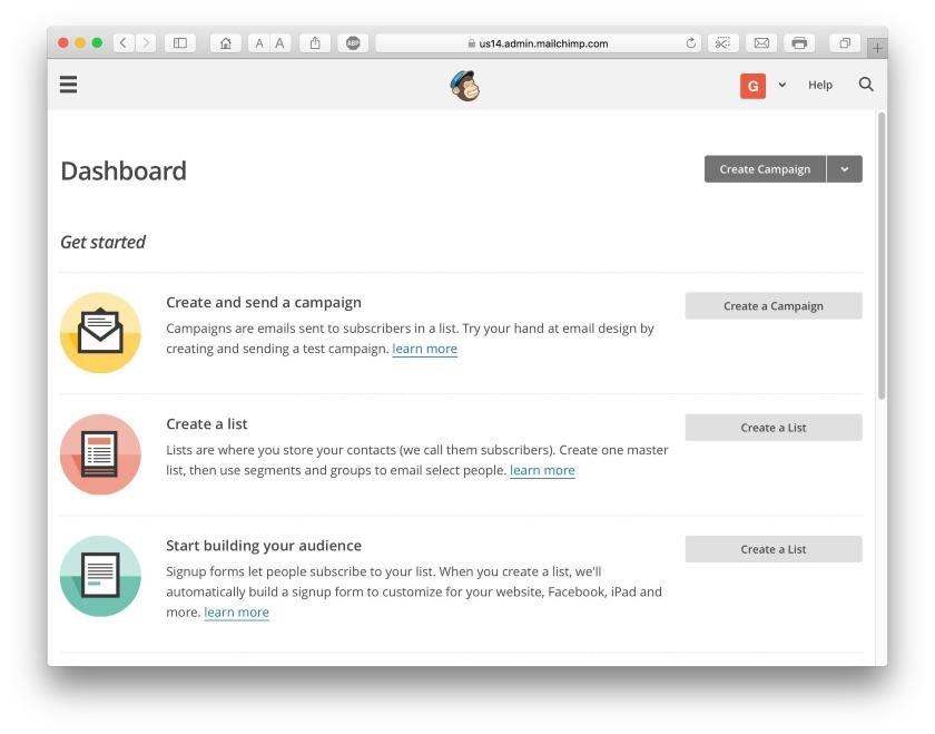 MailChimp Dashboard