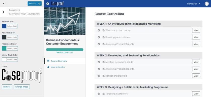 MemberPress Classroom Customization