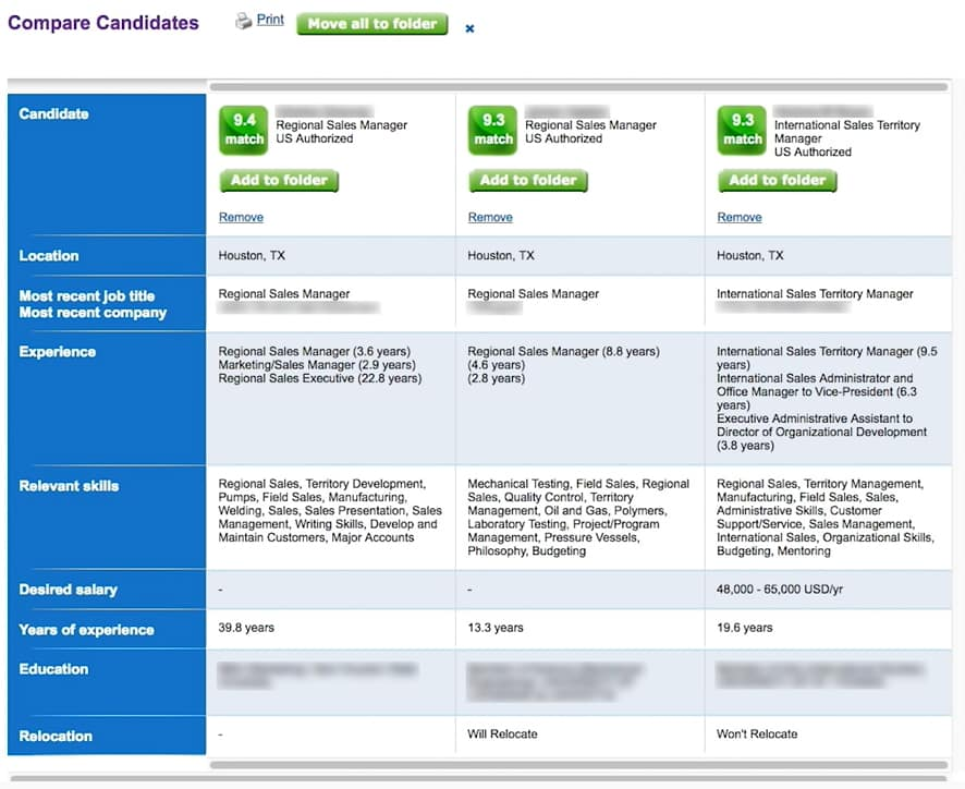 Screenshot of Monster Candidate Tracking