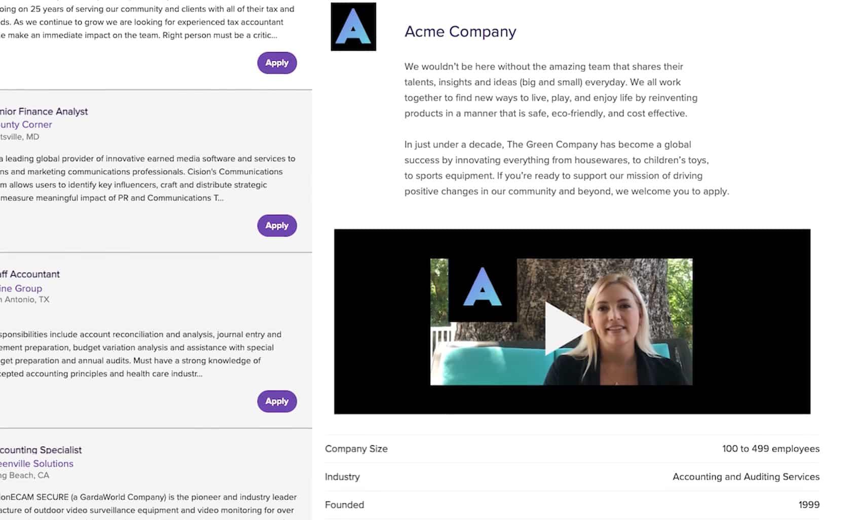 Screenshot of Monste Employer Branding