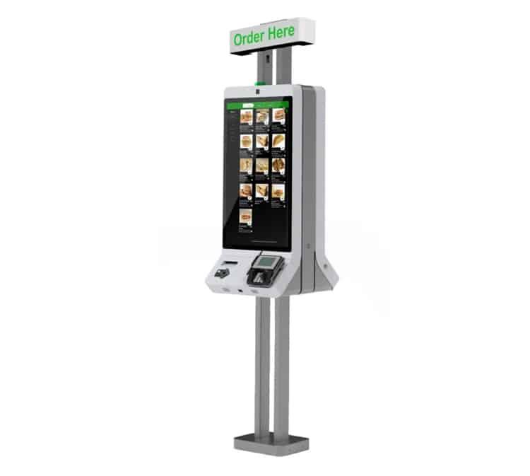 Screenshot of CR self-service kiosk