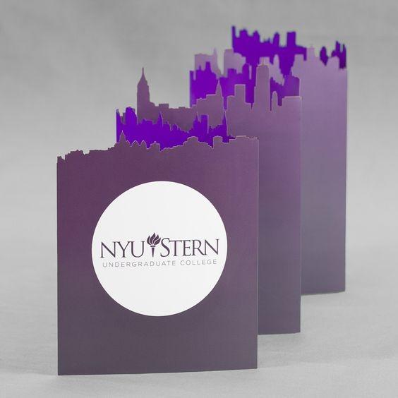 NYU STERN Die-cut Brochure