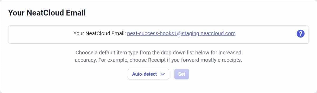 Screenshot of NeatFiles Email for Sending Files