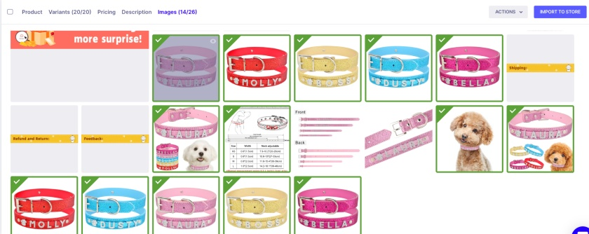 Oberlo Product Images Tab