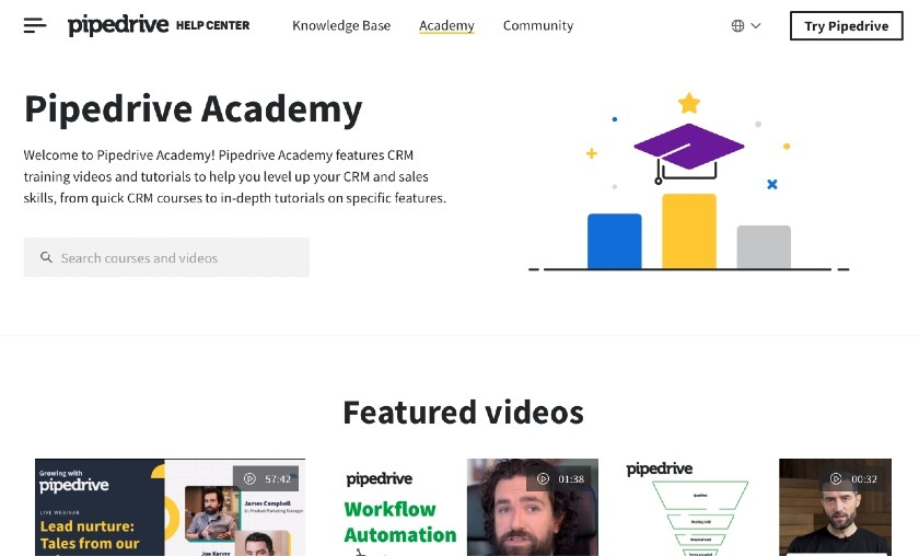 Pipedrive Academy Website