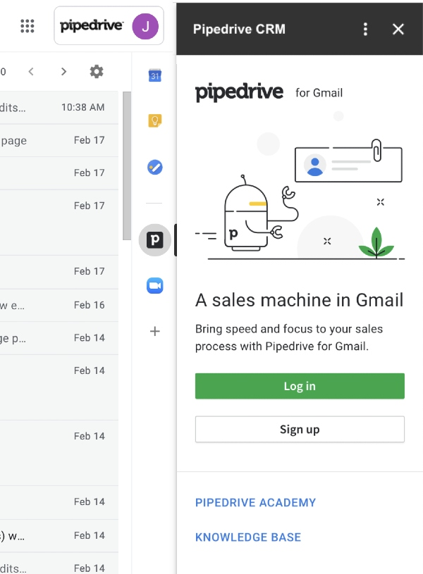 Pipedrive and Gmail Integration