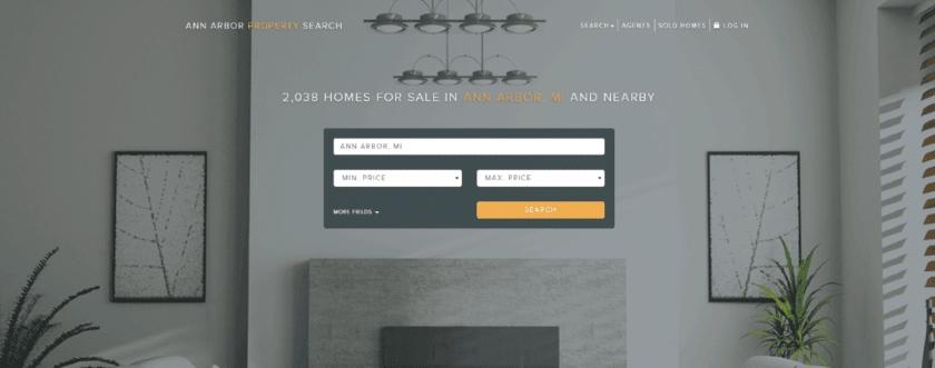 Real Geeks landing page Screenshot