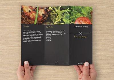 Restaurant Template Z-fold Brochure