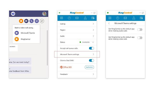 RingCentral and Microsoft 365 integration VoIP features