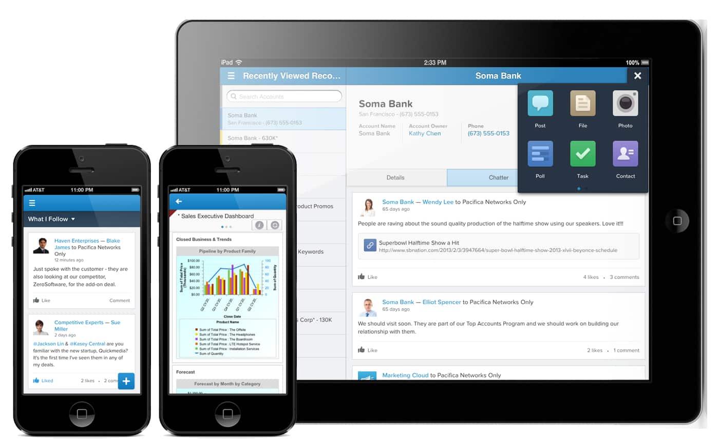 Screenshot of Salesforce Chatter app