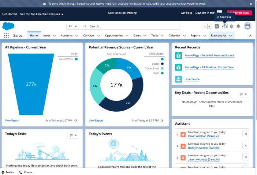 Salesforce Sales Analytics Dashboard