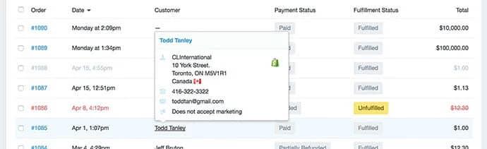 Screenshot of Shopify POS monitoring tools