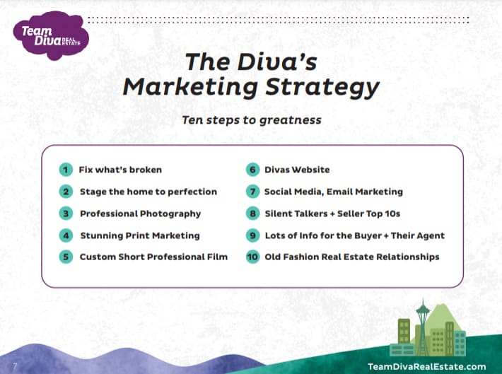 Screenshot of The Divas Marketing Strategy Sample