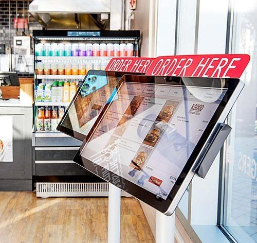 Toast self-ordering kiosks ELO Touchscreens