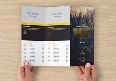 Vacation Template Z-fold Brochure