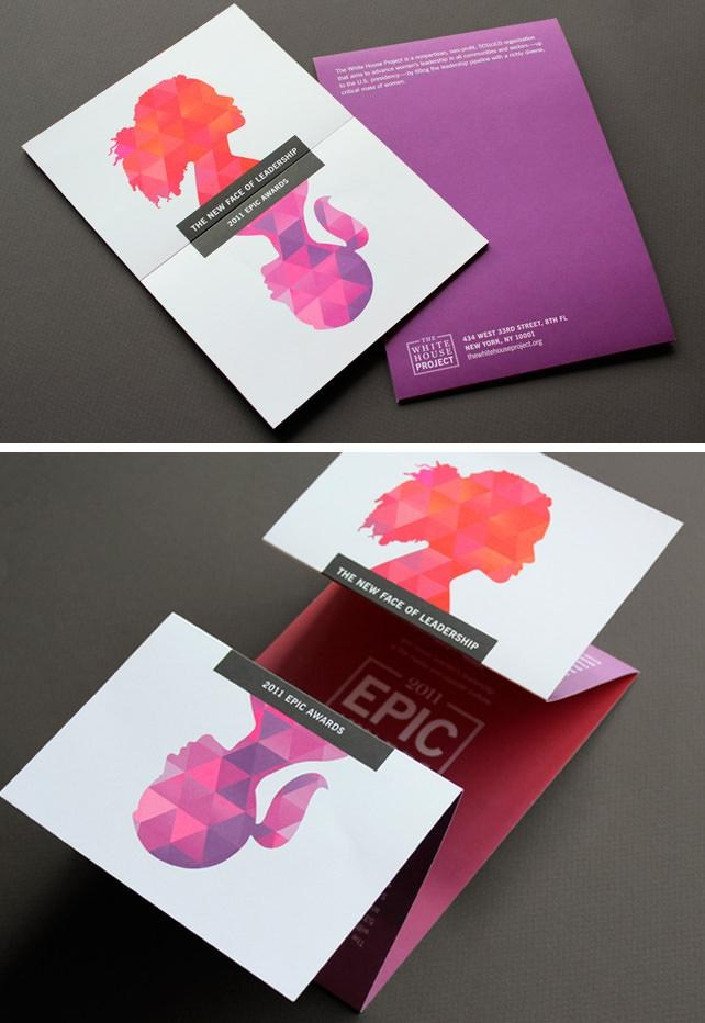 lengthwise display Brochure
