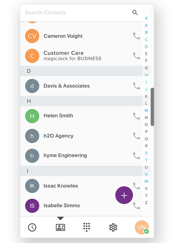 magicJack Desktop App Interface