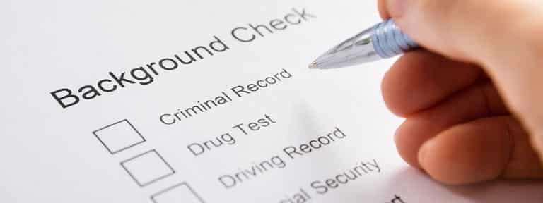 Screenshot of Answering a Background Check