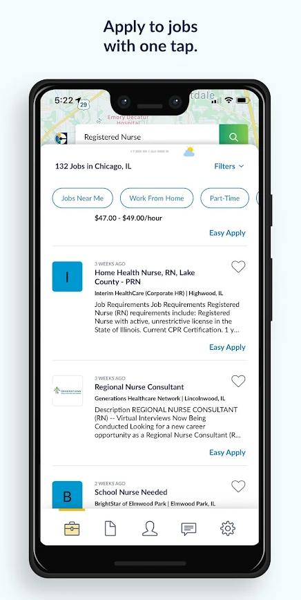 Screenshot of CareerBuilder Mobile App