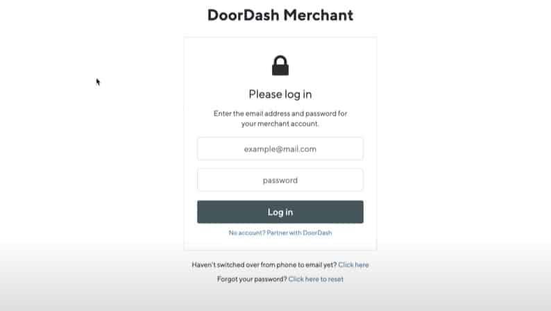Screenshot of Doordash Merchant Portal Step 5