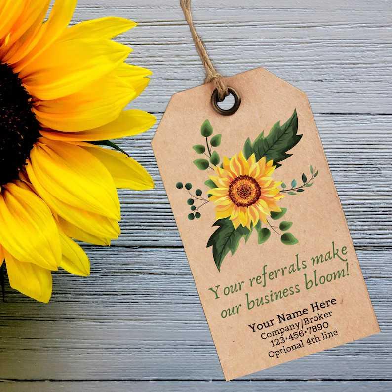 Screenshot of Flower Referral Card