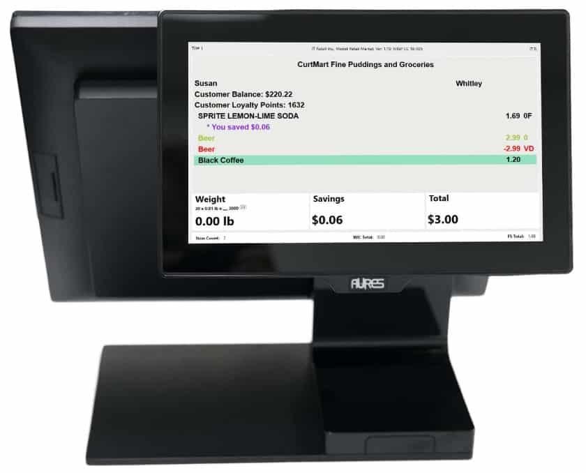 Screenshot of IT Retail Market Customer Display
