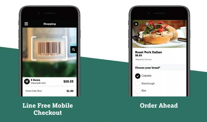 Screenshot of IT Retail Ordering Ahead and Checking Out via Smartphone