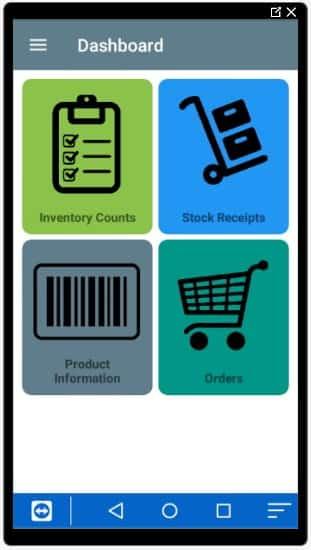 Screenshot of Korona POS Inventory Mobile App