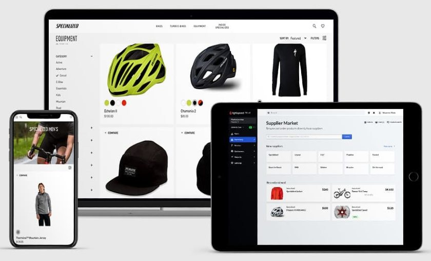 Screenshot of Lightspeed Inventory Ecommerce on Devices