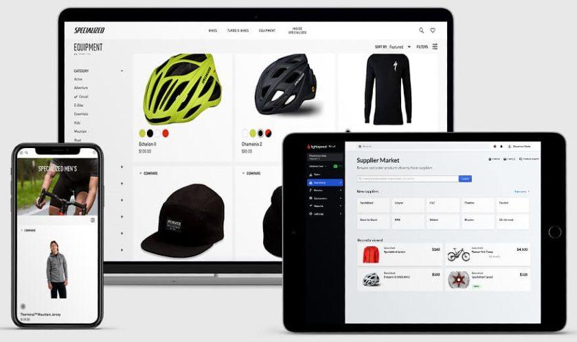 Screenshot of Lightspeed Supplier Market on Devices