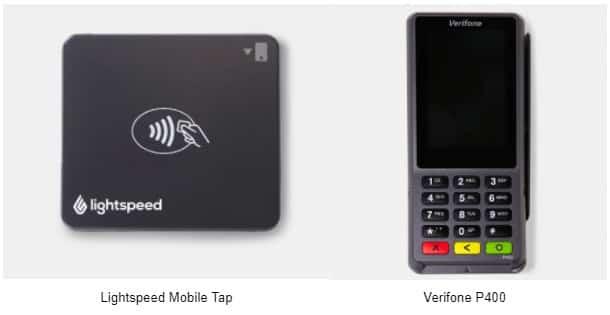 Screenshot of Lightspeeds Mobile Tap and Verifone P400