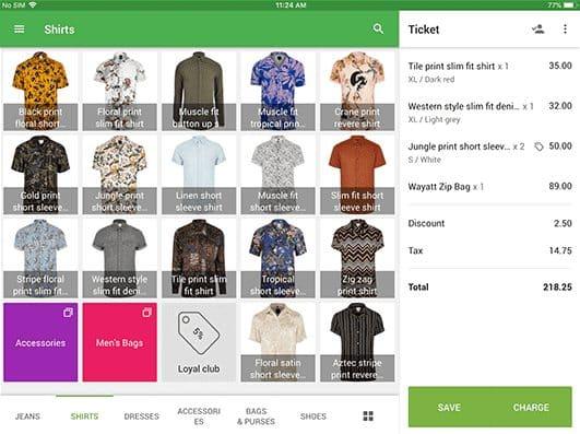 Screenshot of Loyverse Retail Screen