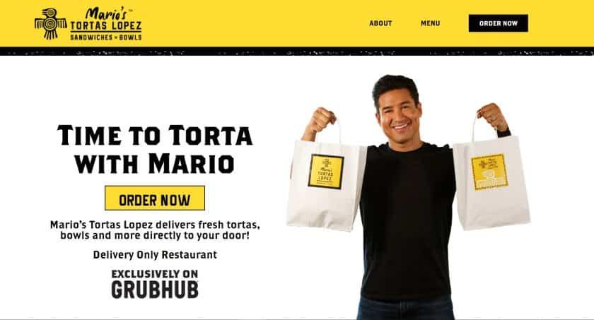 Screenshot of Mario Tortas Lopez Site