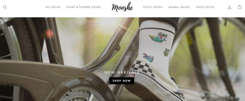 Screenshot of Mooshe Product Focused Dropshipping Site
