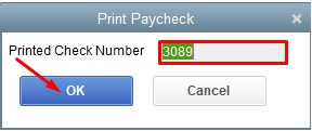New Check Number