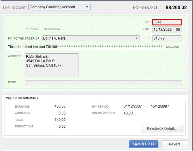 Prepare to Void a Check in QuickBooks Desktop