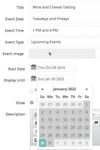 Screenshot of Revel Vines OS Reservation Screen